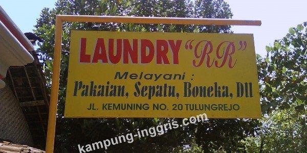 laundry kampung inggris kediri