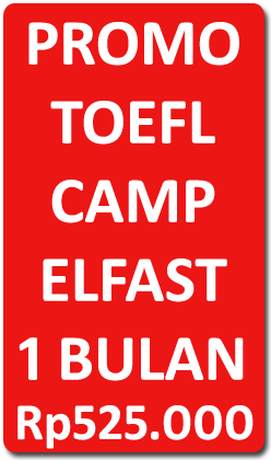 Promo TOEFL Camp by Elfast